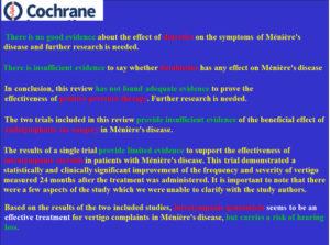 Meniere Cochrane
